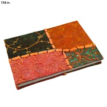 Indian Printed Style Multiple Sizes Beautiful Cover Diaries 100% Handmade Paper Notebook Travel Diary scrapbook