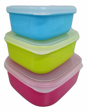 Colorful Foods Containers - Blue, Green & Pink