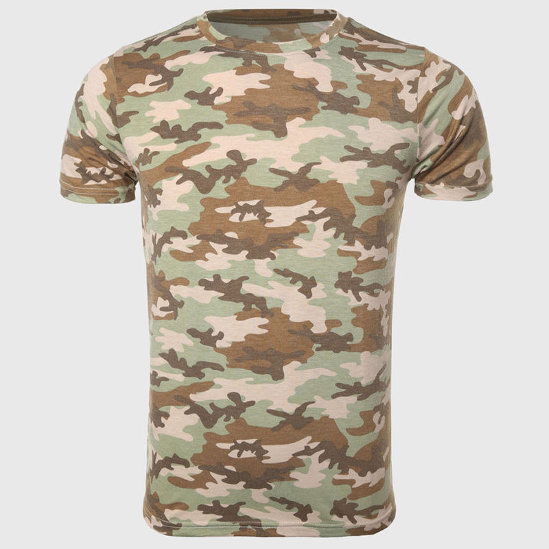 Summer Mens Fashion T-Shirts Camouflage Army Brand Clothing For Man's Wear Short Sleeve Slim T-Shirts