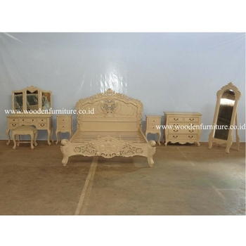 Rococo Bed Set Antique Reproduction Furniture French Provincial Bedroom Set European Style Home Furniture