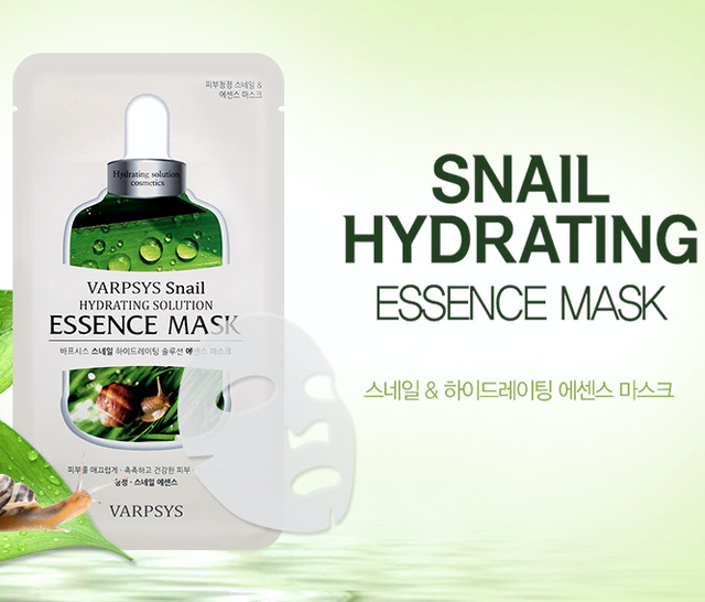 Wholesale Korea Beauty Cosmetics Varpsys Face Mask Skin Care Essence Mask SNAIL HYDRATING