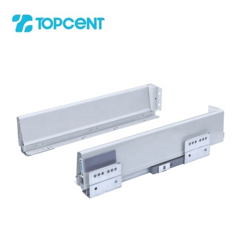 Tandem metal box undermount kitchen drawer slides