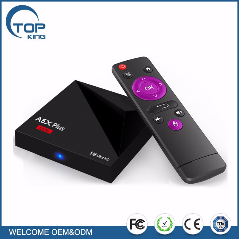 1g/8g KM8P Android 7.0 amlogic S912 octa Core TV caja 4 K Ultra HD VP9 3D wifi AirPlay miracast DLNA Set-Top Box con control remoto