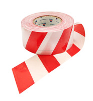 PE Warning Non Adhesive Red And White Logo Printed Barrier Tape