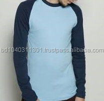 Plain raglan long sleeve t shirt factory bangladesh