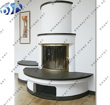 white black marble half round hearth chimney fireplaces