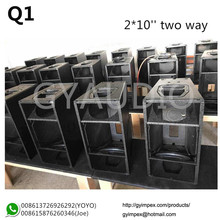 dual 10 inch Q1 Q sub line array cabinets,empty line array box