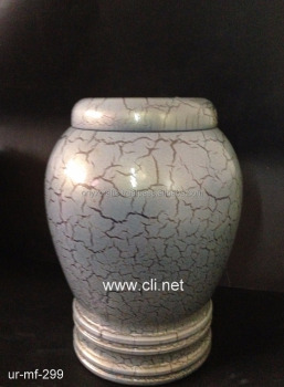 Thunder Sky Blue Marble Funeral Urnas Urny Urne in Cheap Price