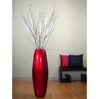 Lacquer bamboo vase for home decoration