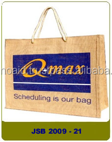 2017 hot selling customized free sample jute bag shopping
