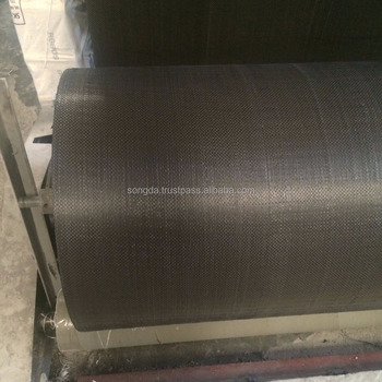 Made in Vietnam black polypropylene woven fabric in roll