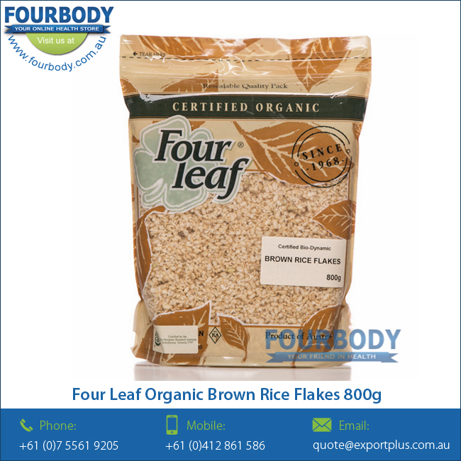 Four Leaf Organic Brown Rice Flakes 800g