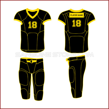 custom made black american football uniforms with free customization