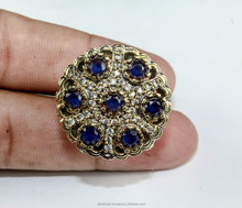 Top Rated Wholesale 925 Sterling Silver Overlay Sapphire Cz Turkish Ring Jewelry