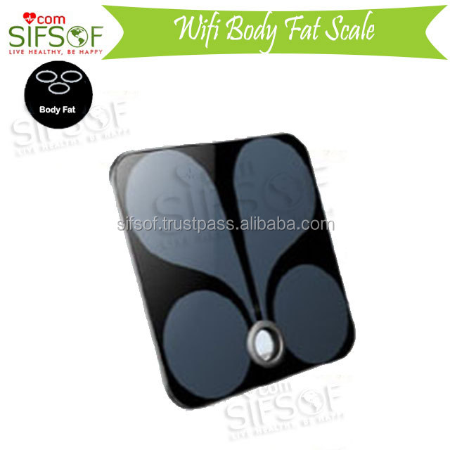 Weighing Bluetooth Scale, Bright LED WiFi BodyScale, ITO Glass Platform Wi-Fi Scale, SIFSCAL-4