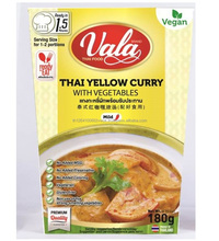 curry paste Ready to eat Thai curry Vegetarian food Vegan THAI YELLOW CURRY WITH VEGETABLES Instant Food vala thai food