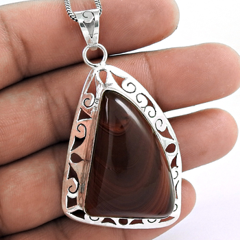 Stylish imperial gemstone pendant 925 sterling silver jewelry handmade pendants manufacturer