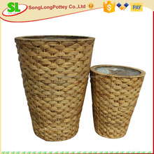 Round Natural Water Hyacinth Basket With pp Insert S/2
