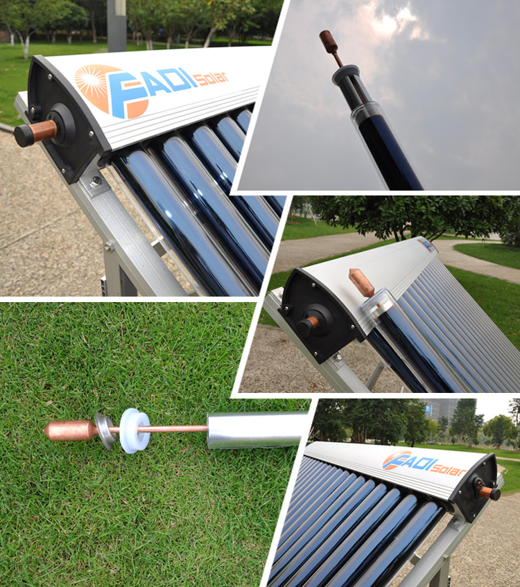China Fadi Vacuum Tube Solar Collector (2pcs x15tube)