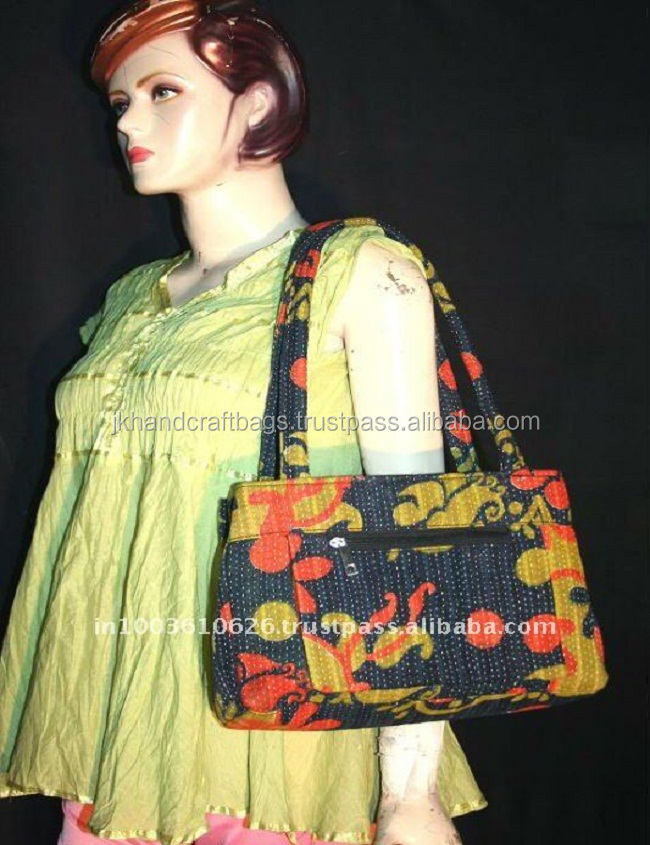 kantha quilted purse and handbags