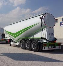 60 m3 Double Tyres Diesel Engine V Type Dry / Bulk / Powder Cement Tanker Semi Trailer