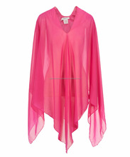 Fashion Manufacturer Custom Ladies Tops Tunic Beachwear Cover Up