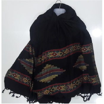 New Design 100% silk cotton Fancy design Stoles and Shawls Men and Women Scarf