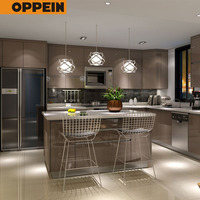 American Project High Gloss PVC Modular Kitchen Unit Cabinet Designs