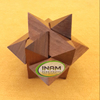 Shooting Star: Handmade & Organic 3D Brain Teaser Wooden Puzzle for Adults from Inam handicrafts with Gift Box(Pictured)