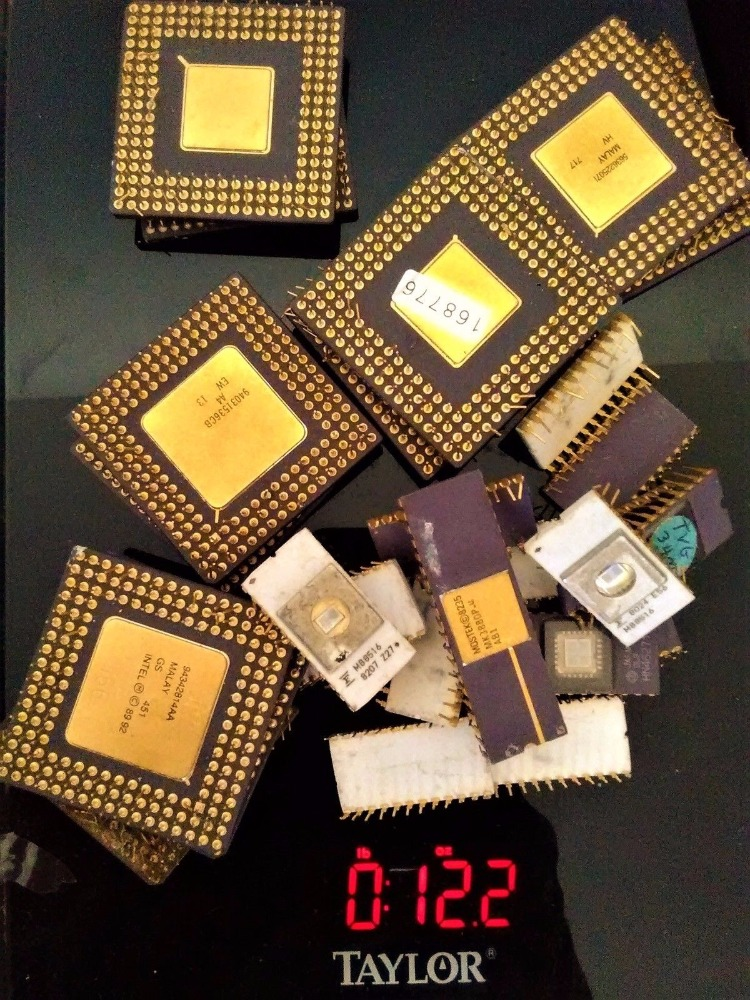 CERAMIC CPU SCRAP PROCESSORS GOLD