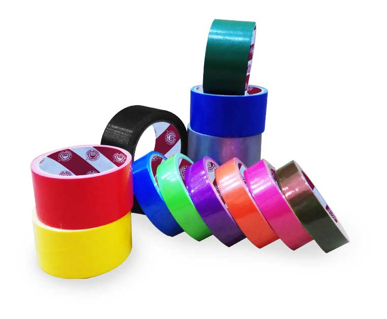 Synthetic Rubber Adhesive Colored Cloth Duct Tape