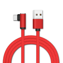 Millionwell Newest Arrival 2019 Original Fast Charging Type C USB Cable Elbow 90 degree braided usb cables For Samsung Galaxy S8