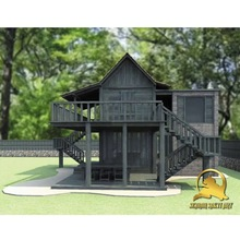 Durable Teak wooden Log Material Prefab Cottage Houses - Easy Assembling Beautiful homes