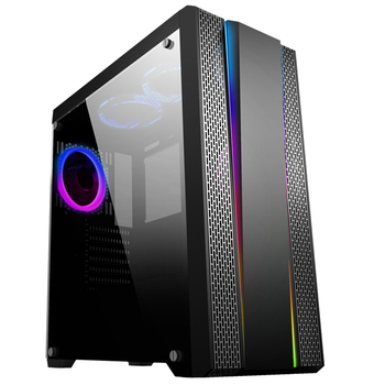 2018 new rainbow strip gaming computer case