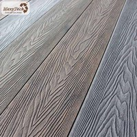New technology WPC 3D embossed composite decking