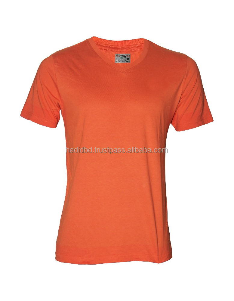 Bangladesh Garments Stock-lot/ Shipment Cancel/ Surplus 100% Export Quality mens solid/basic V-neck T- Shirt