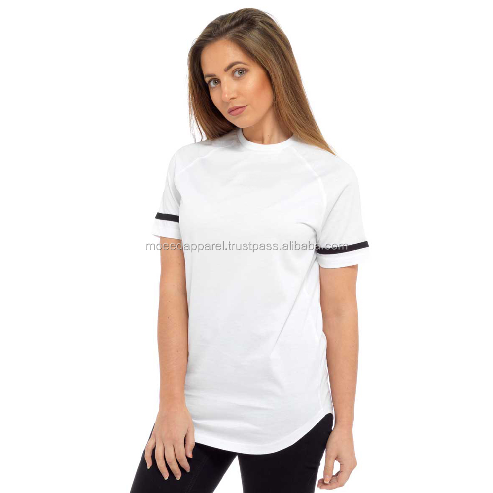 Womens T Shirts Blank Plain White polyester T Shirt For Custom Printing Short Sleeve V