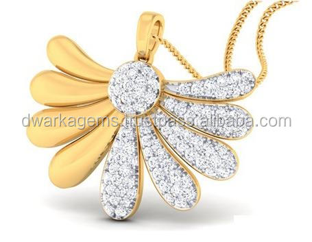 Gold and diamond studded wholesale pendants