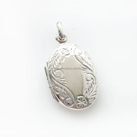 ENGRAVED SILVER LOCKET 925 STERLING SILVER LOCKET PENDANT WHOLESALE PENDANT JEWELRY