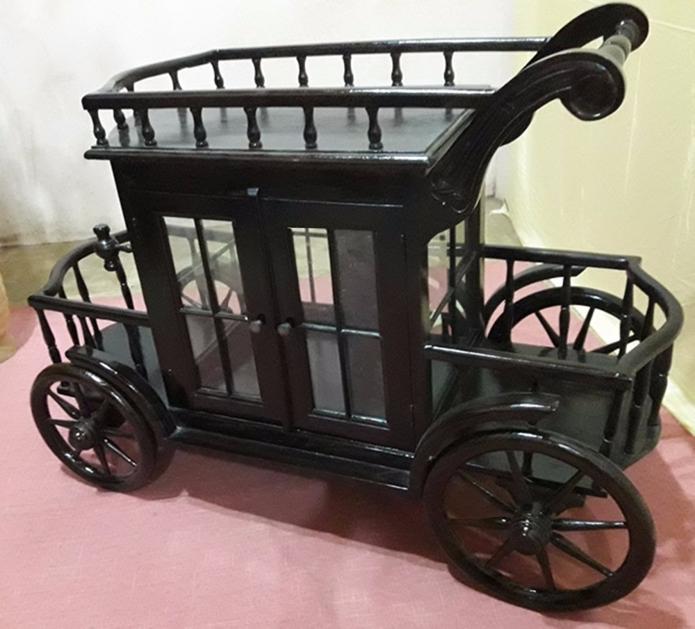 Best seller Tea trolley teak wood indoor Indonesia furniture