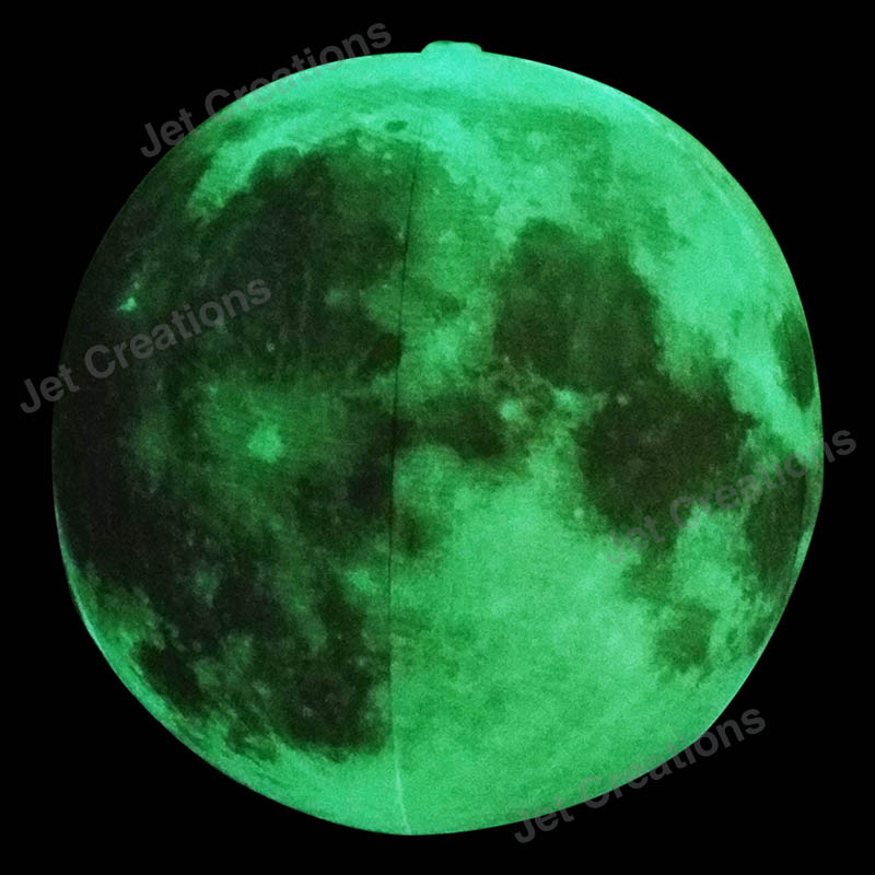 High Quality German Medium Size Glow in the Dark Moon Balloons