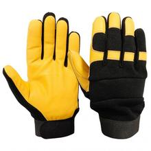 Mechanic Gloves | YELLOW GOATSKIN LEATHER PALM |Cowhide Leather Used Mechanic Gloves