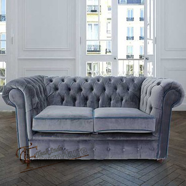 sofa two new model stand, classic design for living room and hotel lobby, gray color