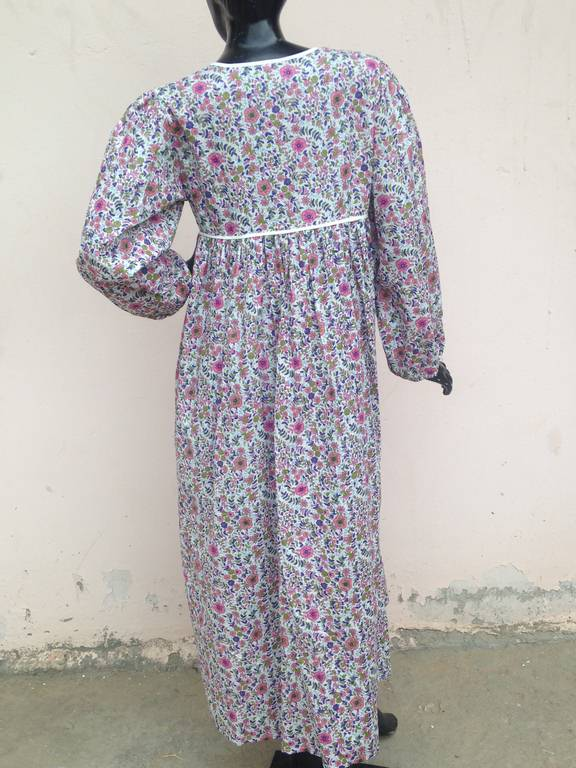 latest floral Printed COTTON maxi dress for women and girls 2017