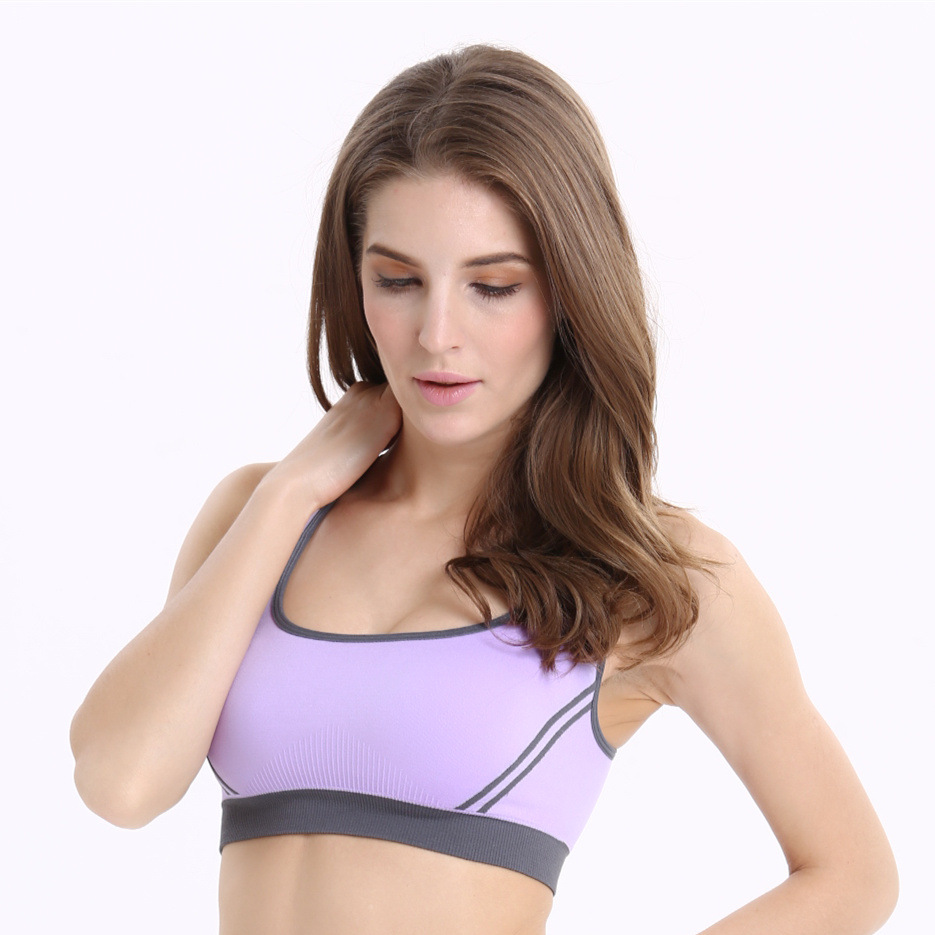 Sports Comfortable Seamless Comfort Leisure Yoga Stretch Comfy Bra Crop Top Vest