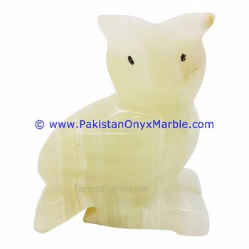 MANUFACTURER AND EXPORTERS ONYX CARVED ONYX OWL STATUE