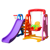 Factory Price Good Quality Colorful Mini Baby Playhouse Indoor Plastic Slide And Swing Set Playground Toys for Sale