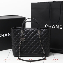 Preowned Used brand designer CHANEL 2way shoulder calf black shoulder bags for bulk sale.