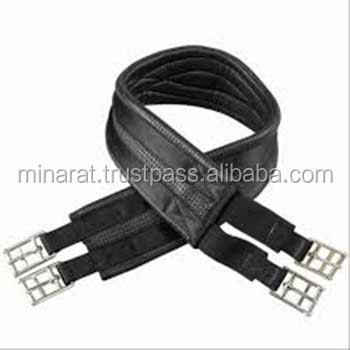 Black Saddle Girth girth buckles Leather Girth