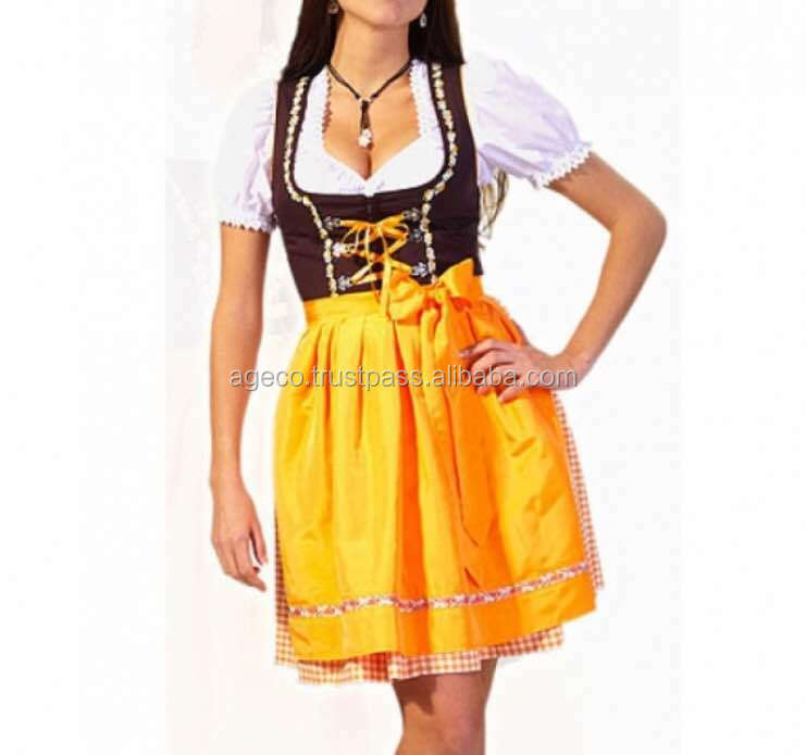 DRINDL Dress / Latest Design German Bevarian, Springfest, Oktoberfest trachten Dirndl Costume
